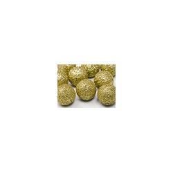 Boule décorative dorée pailletée 9 p D3cm