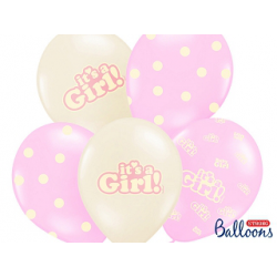10 x ballon IT'S A GIRL rose et or