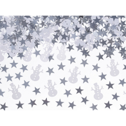 Confettis bonhommes de neige et étoiles