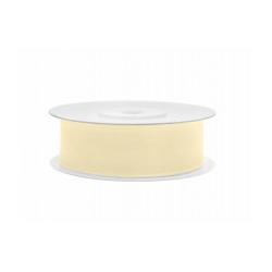 Ruban soie crème clair