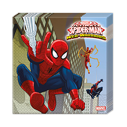 "20 x Serviettes ""Spider Man"""