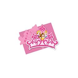 6x Cartes d'invitations Princess Dreaming