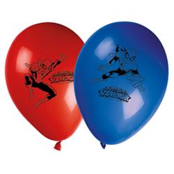 "8 x Ballon ""Spider Man"" rouge et bleu"
