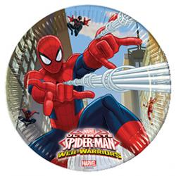 "8 petites assiettes anniversaire ""Spider Man"""
