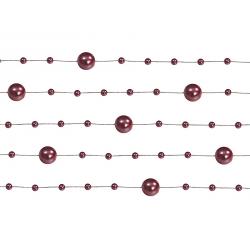 5 x Guirlande de perles bordeaux 130 cm