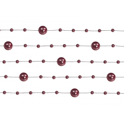 5 x Guirlande de perle noire (1,3 m)