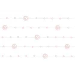 5 x Guirlande de perles rose claire 130 cm