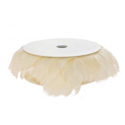 Rouleau de plumes crème
