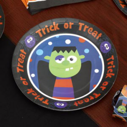 "8x assiette Halloween ""trick or treat"""