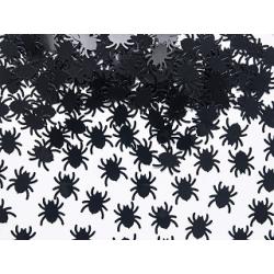 Confettis araignées noires x 100 Halloween