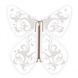 10 x papillon magique baroque blanc