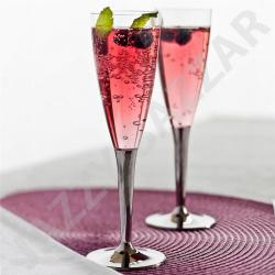Flûtes à Champagne x 10 plexy pied argenté