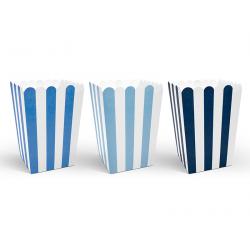 """Boite popcorn bleue x 6 pièces thème """"petit avion"""""""