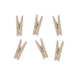 Epingle à linge bois naturel décorative 3cm x 20 pièces