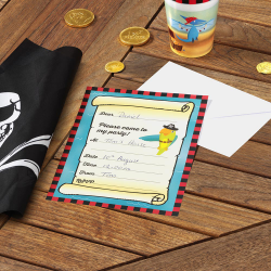 "10 x invitation ""Dino pirate"""
