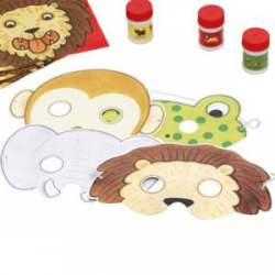 Masque d'animaux de zoo 8 pièces