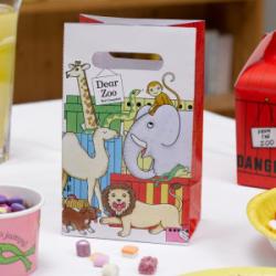Sacs à bonbons animaux de zoo 5 pièces