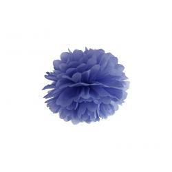 Pompon papier bleu foncé 25 cm