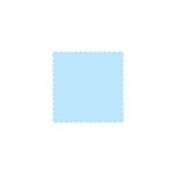 200 x Serviette bleu turquoise simple épaisseur (15 cm x 15 cm)