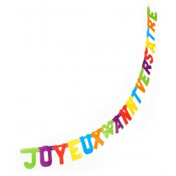 Guirlande Joyeux Anniversaire multi-couleur de 200 cm