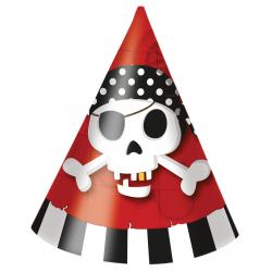 6 x chapeau pirate tête de mort