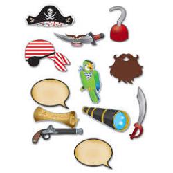 12 x accessoires pirate sur tige pour photobooth