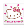20 x Serviette Hello Kitty blanc, rose et rouge 33x33cm