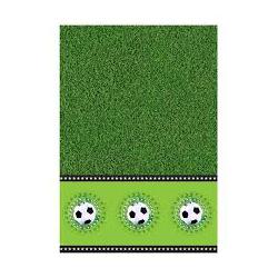 Nappe stade de foot plastique vert, noir et blanc 130x180cm
