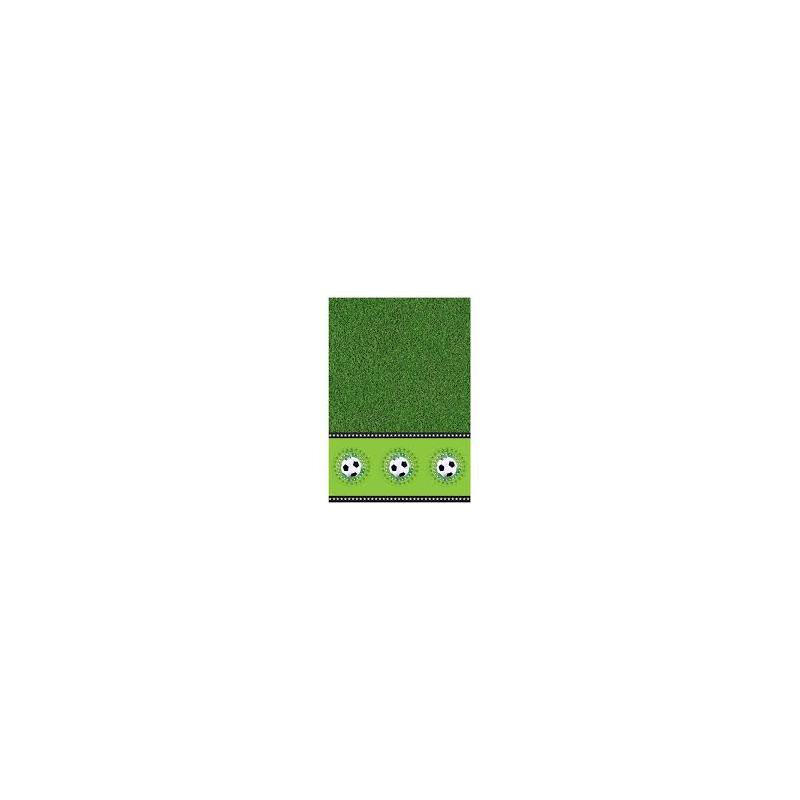 nappe stade de foot plastique vert noir et blanc 130x180cm. Black Bedroom Furniture Sets. Home Design Ideas