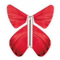 livre blanc forme coeur et papillons volants bleus et roses