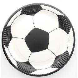 10 x assiette Ballon de foot ronde 23cm