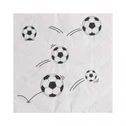 20 x serviette ballon de foot
