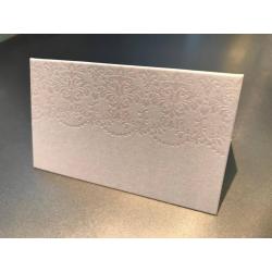 10 x Marque place papier avec dessin de fleurs