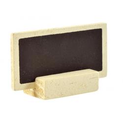 6 x Ardoise sur pince à linge en bois brut