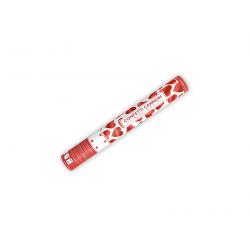 Canon à pétales de rose cœur rouge (format : 40 cm)