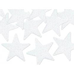 Décoration Etoiles pailletées blanches