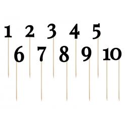 Numéros noir 0-9