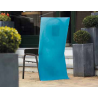 10 x Housse de chaise papier intissé turquoise 50 x 100 cm avec poche