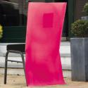 10 x Housse de chaise papier intissé fuchsia 50 x 100 cm avec poche