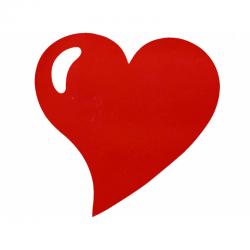 Set de table tissu coeur mat rouge