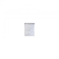 Chemin de table Fanon métallisé argent (30cmx1,60m)