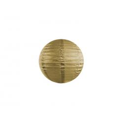 Lampion papier 20 cm Doré