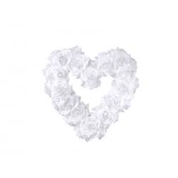 Coeur en rose couleur blanc