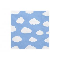 """20x Serviette nuage """"Petit avion"""""""