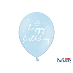 "10x Ballon ""Happy Birthday"" bleu"