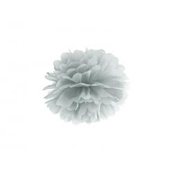 Pompon papier argent 25 cm