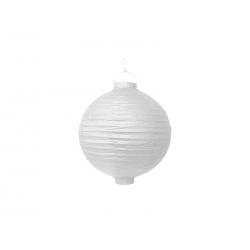 Lanterne avec LED papier blanc (20cm)