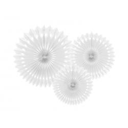 Paquet de 3 rosettes blanches