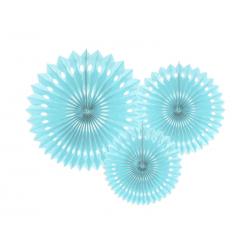 Paquet de 3 rosettes bleues