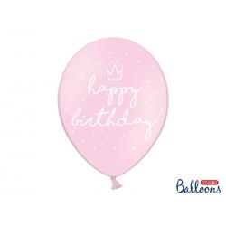 "10x ballons ""HAPPY BIRTHDAY"" rose"